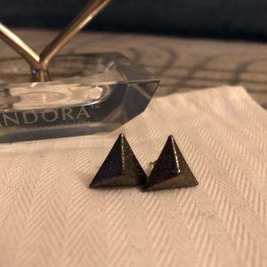 3D Triangle Stud Earrings